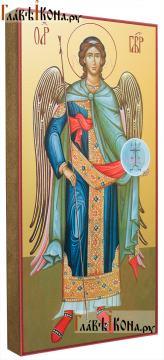 Гавриил архангел ростовой, икона на дереве печатная (вид сбоку)