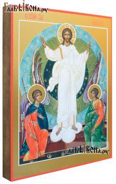 Воскресение Христово икона печатная на доске, артикул 90281 - вид сбоку