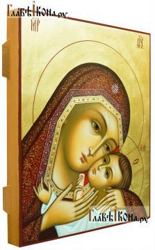 Рукописная икона Корсунской Божией Матери, артикул 276 - вид сбоку