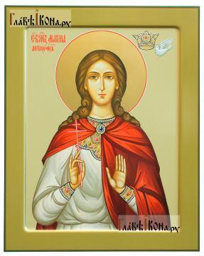Маргаита (Марина) Антиохийская, печатная икона (с ковчегом), артикул 90866
