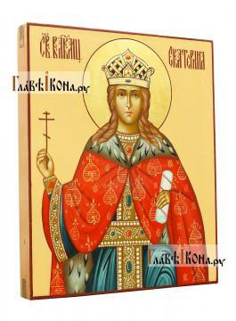 Икона святая великомученица Екатерина, артикул 538 - вид сбоку