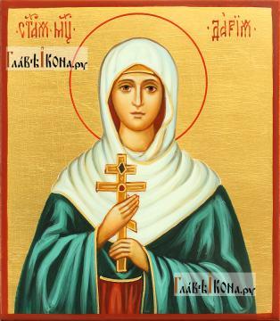 Рукописная икона святой Дарии Римской, артикул 6270