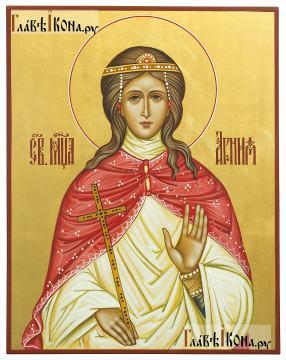 Агния (Анна) Римская, писаная икона артикул 6219