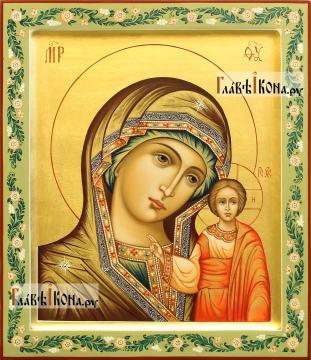 Казанская Божия Матерь, рукописная икона, артикул 5348