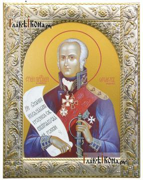 Феодор Ушаков, икона в ризе классической