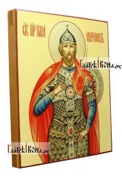 Рукописная икона Ильи Муромца, артикул 6004 - вид сбоку
