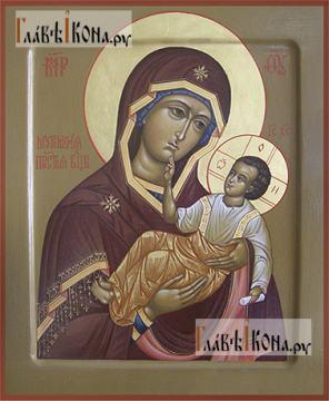 Муромская Божия Матерь, рукописная икона (фотография)