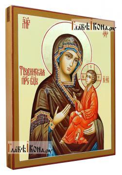 Тихвинска икона Божией Матери, писаная икона, артикул 216  - вид сбоку