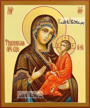 Тихвинска икона Божией Матери, писаная икона, артикул 216