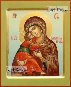 Светлый образ Владимирской Божией Матери, писаная икона артикул 206