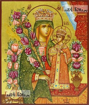 """Божия Матерь """"Неувядаемый цвет"""", писаная икона, артикул 265"""