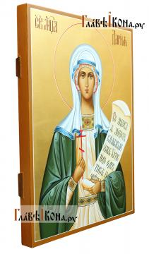 Писаная темперой икона святой Дарии Римской - вид сбоку
