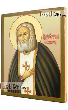 Серафим Саровский, писаная икона артикул 517 - вид сбоку