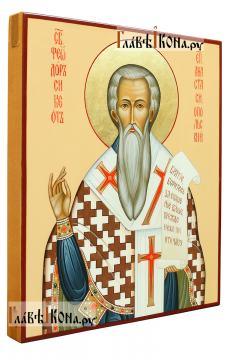 Святой Феодор Сикеот, писаная икона артикул 557 - вид сбоку