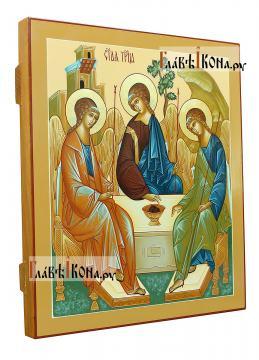 Писаная икона Троица, копия иконы Андрея Рублева, артикул 907 - вид сбоку