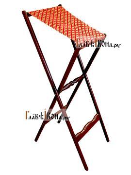 Аналой деревянный складной с красной тканью, артикул 10302