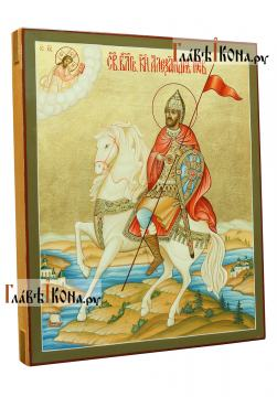 Святой Александр Невский, полководец, икона артикул 503 - вид сбоку