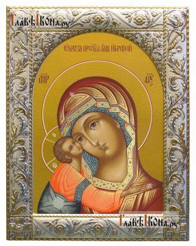 Игоревская Божия Матерь, икона в ризе с классическим рисунком