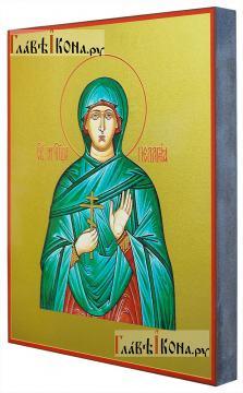 Пелагия Тарсийская, икона печатная на доске - вид сбоку