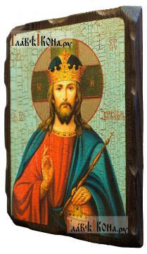 Спаситель (Царь Небесный), состаренная икона - вид сбоку