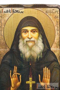 Гавриил Ургебадзе, икона с искусственным старением - детали