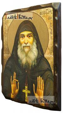 Гавриил Ургебадзе, икона с искусственным старением - вид сбоку