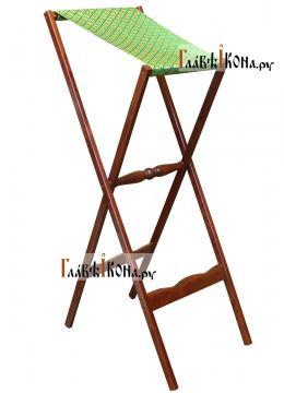 Аналой деревянный складной с зеленой тканью, артикул 10302