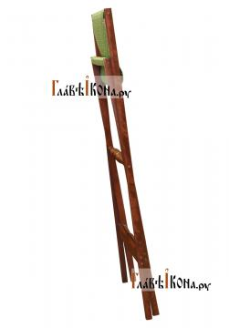 Аналой деревянный складной с зеленой тканью, артикул 10302 - в сложенном виде