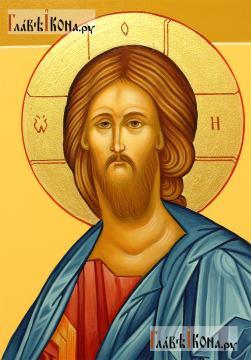 Писаная икона Господа в византийском стиле - влик Образа