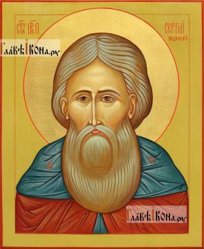 Сергий Радонежский (опечное изображение), писаная икона