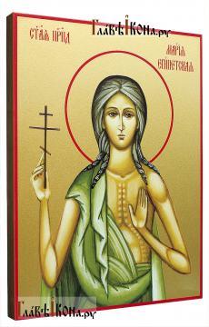 Мария Египетская, икона печатная на доске - вид сбоку