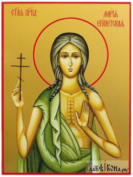 Мария Египетская, икона печатная на доске