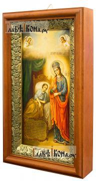 """Божия Матерь """"Целительница"""" - икона печатная на холсте, в деревянном киоте"""