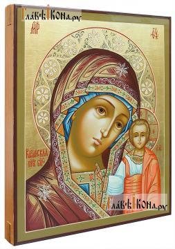 Божия Матерь Казанская, писаная икона, артикул 270 (вид сбоку)