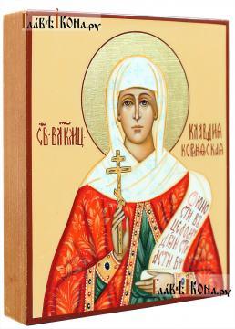 Святая Клавдия, рукописная икона артикул 6193 (вид сбоку)