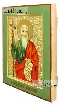 Святой Андрей Первозванный, писаная икона артикул 520 (вид сбоку)