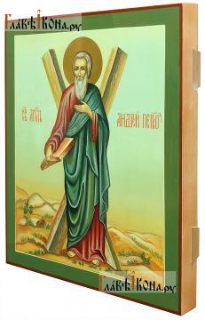 Писаная икона Андрея Первозванного апостола (вид сбоку)