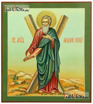 Писаная икона Андрея Первозванного апостола