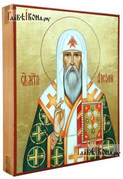 Митрополит Алексий, икона рукописная артикул 6121 (вид сбоку)