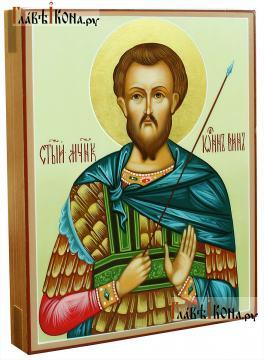 Икона рукописная Иоанна Воина, артикул 593 (вид сбоку)