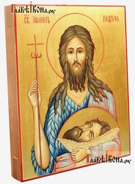 Икона святого Иоанна Предтечи, артикул 6027 (вид сбоку)