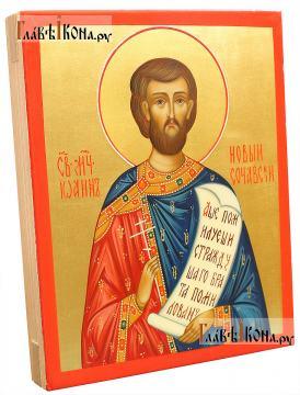 Иоанн Сочавский, икона рукописная артикул 6008 (вид сбоку)