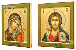 Венчальная пара с золояением и ковчегом, артикул 344 (вид икон сбоку)