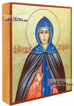 София Суздальская, рукописная икона, артикул 6206 (вид сбоку)