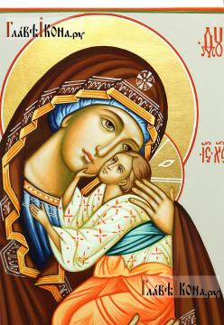 Икона Ярославской Божией Матери, артикул 232 - детали образа