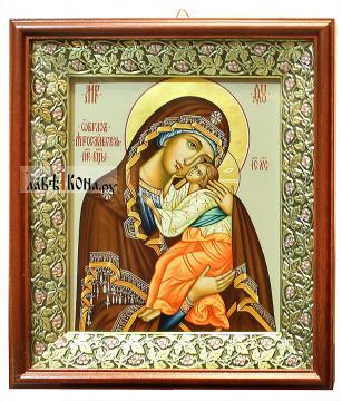 Икона Ярославской Божией Матери, артикул 232 - вариант оформления в киот