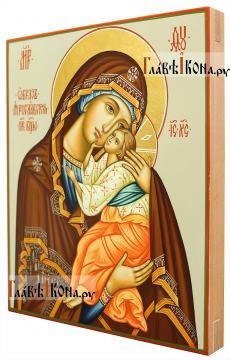 Икона Ярославской Божией Матери, артикул 232 - вид сбоку