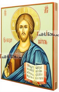 Икона Господа с поясным изображением, артикул 608 (вид сбоку)