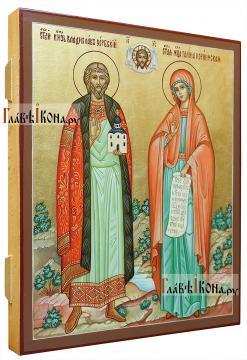 Семейная икона с двумя святыми покровителями:  Владиславом и Галиной (вид сбоку)