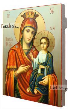 Икона Божией Матери Иверская, в живописном стиле, масло - вид сбоку